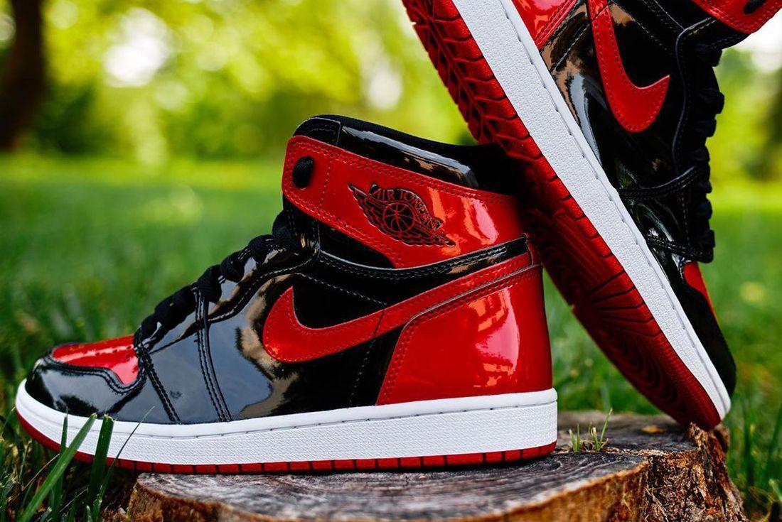 Air Jordan 1 Bred Patent