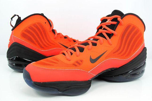 Nike Air Penny V Crimson Black Pair 1