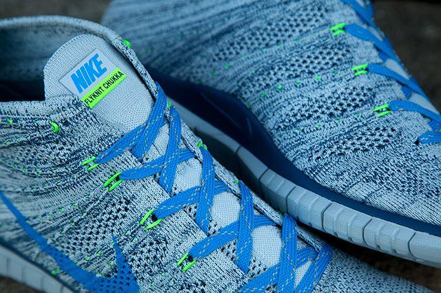 Nike Flyknit Chukka Blue Grey Green 1
