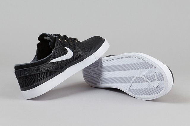 Nike Zoom Stefan Janoski Woodgrain Black White 5