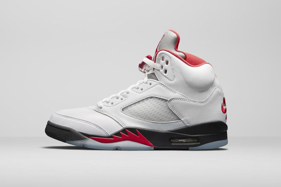 Air Jordan 5 Fire Red 2020 Lateral