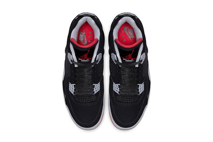 Air Jordan 4 Bred 2019 Retro 308497 060 Release Date Top Down