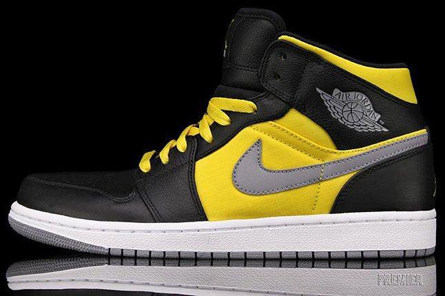 Air Jordan 1 Phat Black Yellow 1