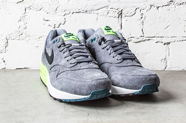 Nike Air Max 1 Premium Grey Volt 1
