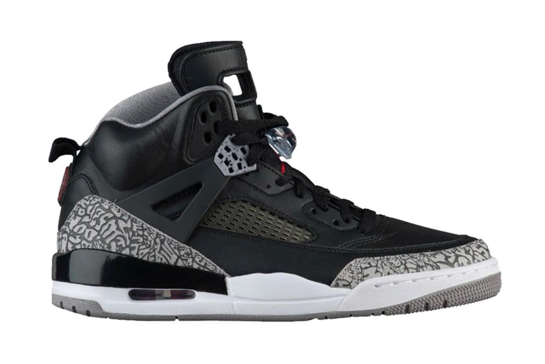 Air Jordan Spizike Black Cement Lateral Side Shot