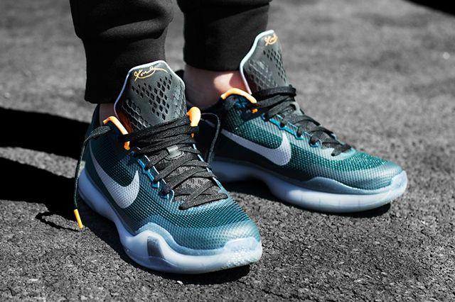 Nike Kobe 10 Flight Teal Orange 6