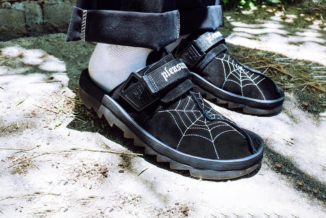 PLEASURES Reebok Beatnik on foot