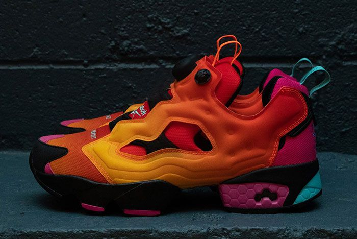 Chromat Reebok Instapump Red Yellow