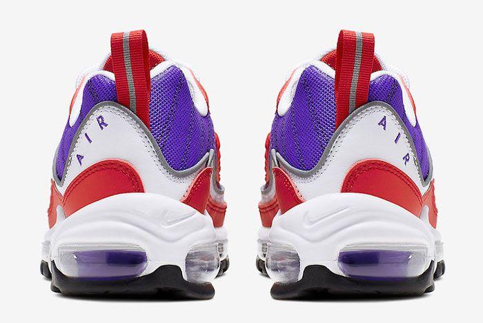 Nike Air Max 98 Psychic Purple University Red Ah6799 501 Release Date 5 Heel
