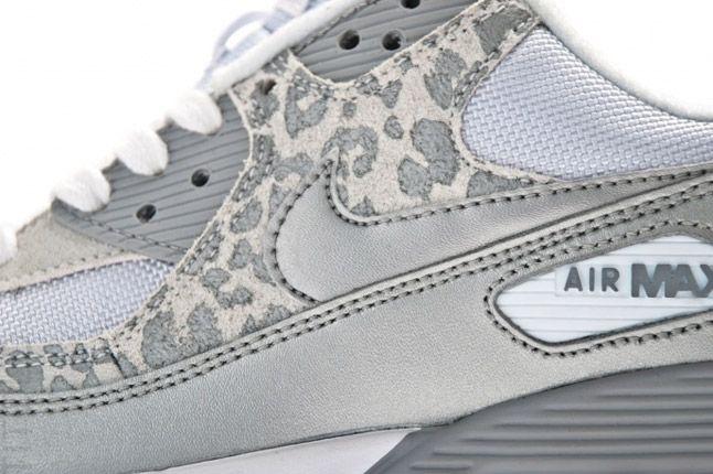 Grey Air Max 90 Metallic Leopard Pack Side Detail 1