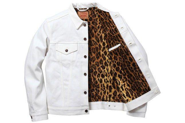 Supreme Levis Denim Jacket White Leopard 1