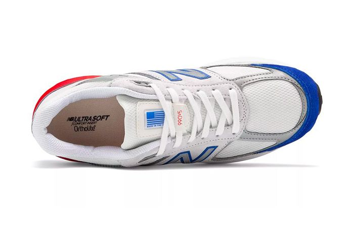 New Balance 990V5 Nimbus Cloud Team Royal Red Release Date Top Down