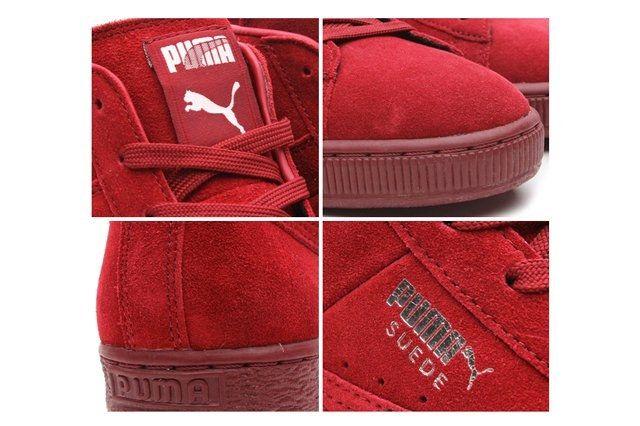 Puma Suede Mid Classic Pomegranate 4 Way