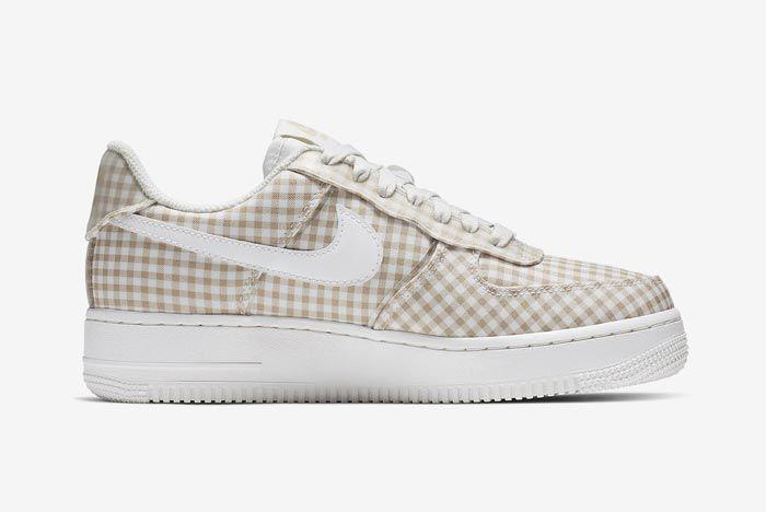 Nike Air Force 1 Gingham Pack Beige Medial