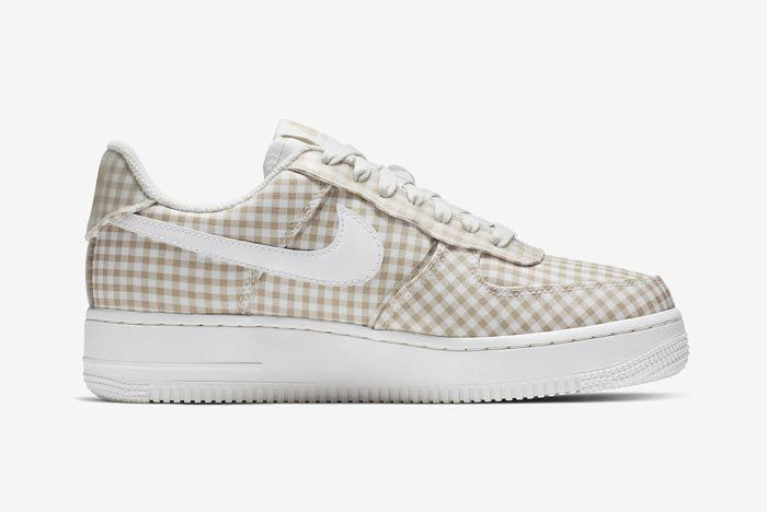 Nike Air Force 1 Gingham Pack Beige Medial