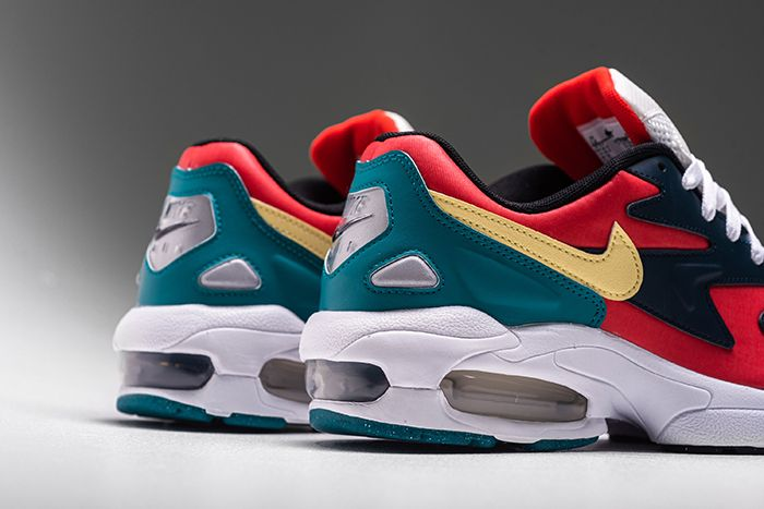 Nike Air Max2 Light Sp Habanero Red Armory Navy Radiant Emerald Bv1359 600 Release Date Heel
