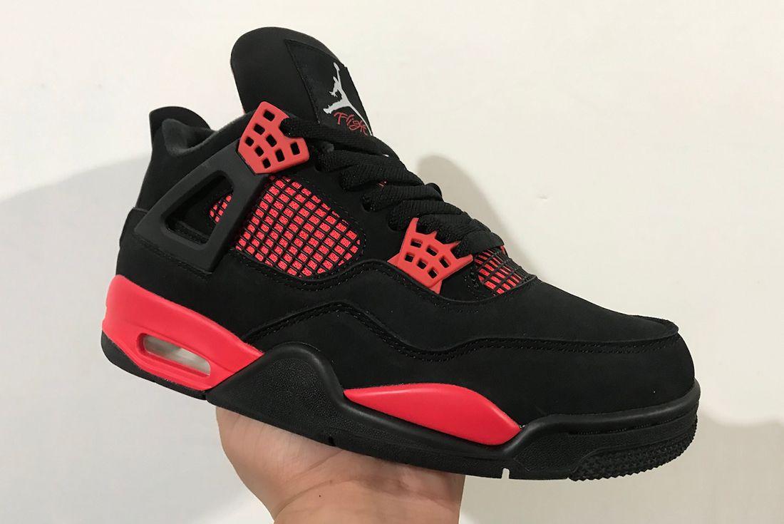 Air Jordan 4 'Red Thunder' in hand