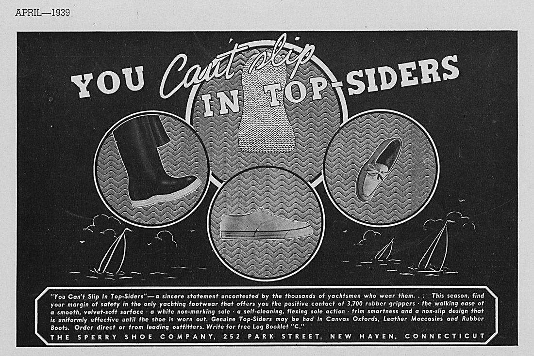 History Sperry Top Sider Advertisement 1939