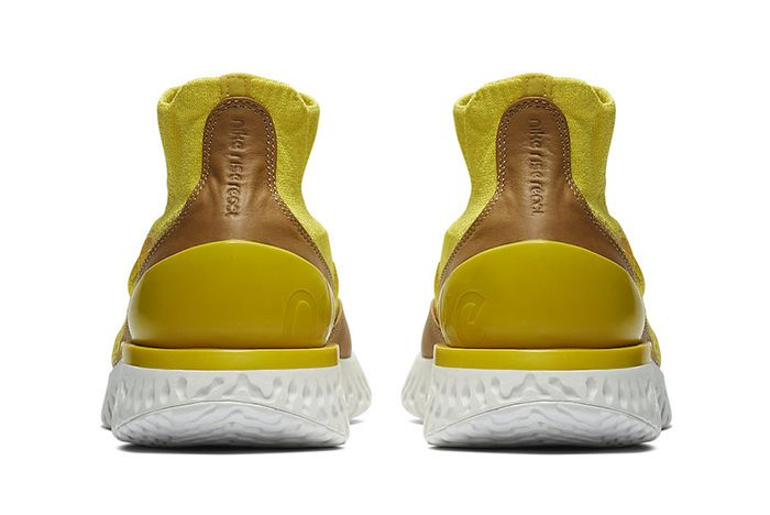 Nike Rise React Flyknit Yellow 5