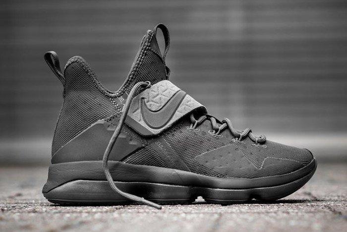 Nike Lebron 14 Triple Black 4