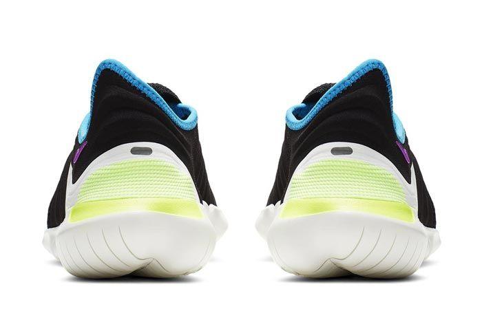 Nike Free Run Flyknit 3 Black Heels