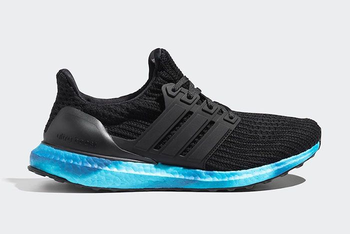 Adidas Ultra Boost Black Blue Fv7281 Lateral