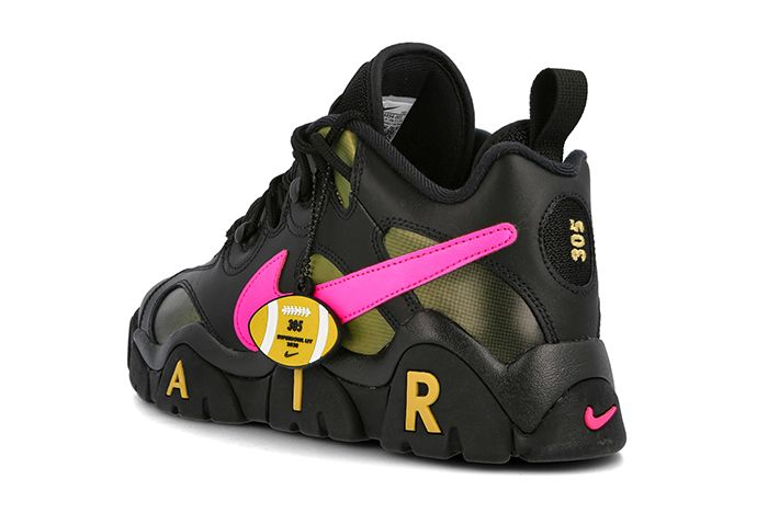Nike Air Barrage Low Superbowl Black Pink Back