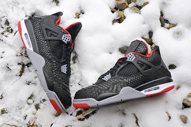 Jbf Customs Python Jordan Iv Snow Pair 1