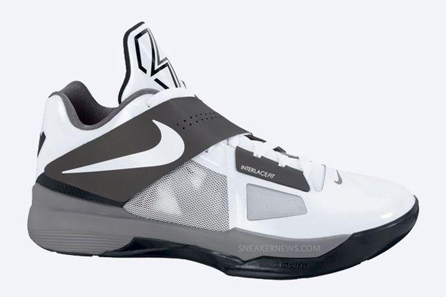 Nike Zoom Kd Iv White Black Cool Grey 2 1