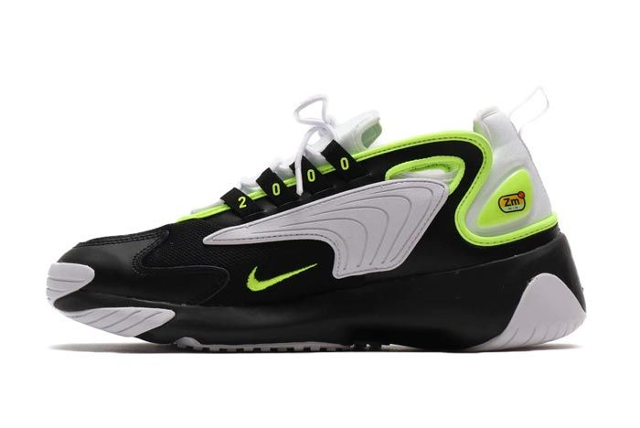 Nike Zoom 2K Black White Volt Medial