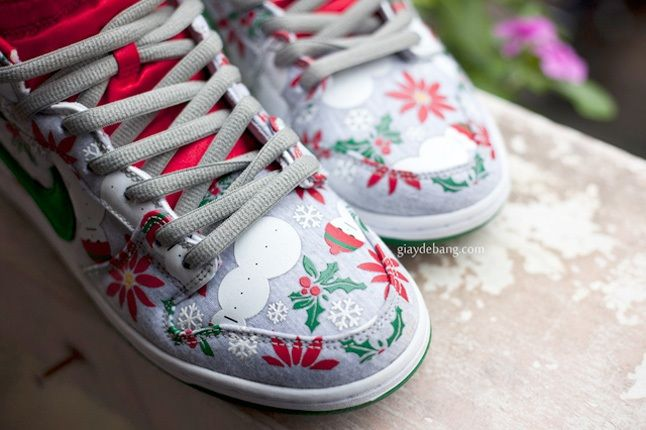 Concepts Nike Sb Dunk High Premium Ugly Christmas Sweater 7