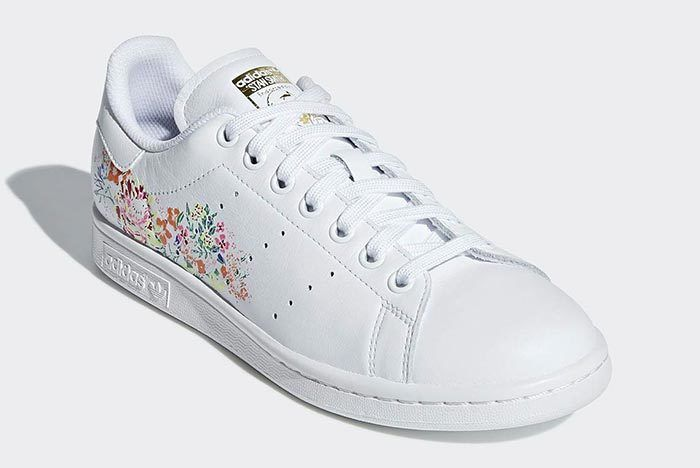 Adidas Stan Smith White Floral 2