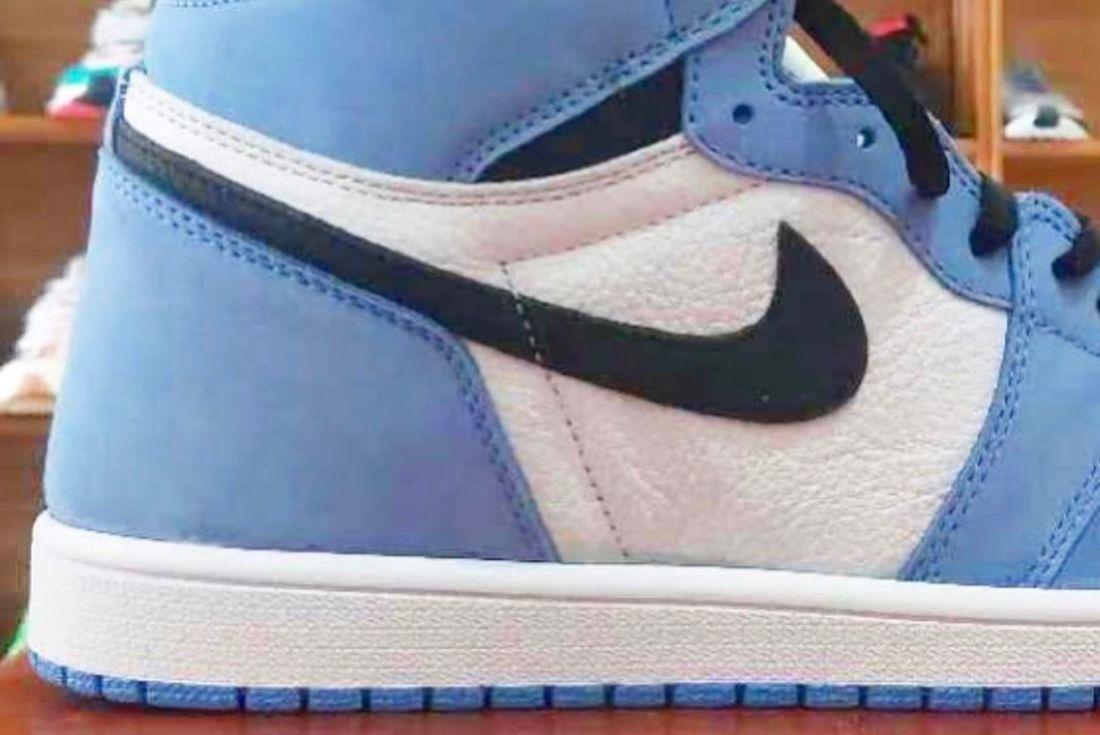 """Air Jordan 1 High OG """"University Blue"""" leak"""