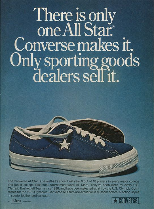 History Of Converse One Star Advertisement Cropped