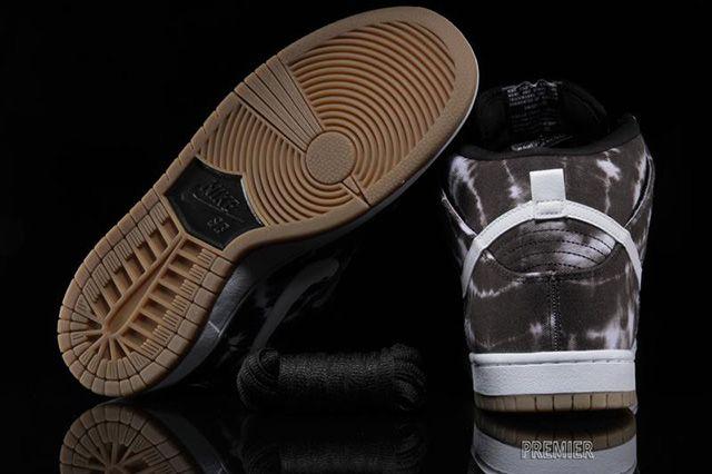 Nike Sb Dunk High Black White Tie Dye 3