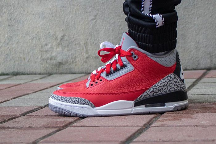 Air Jordan 3 Cement Red Fire Red All Star On Foot1