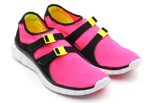 Nike Free Sock Racer Candy Pack Flash Pink Pair 1
