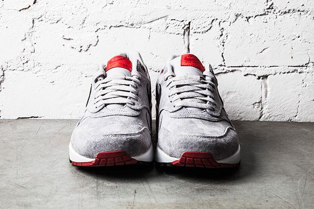 Nike Air Max 1 Premium Grey Red 1