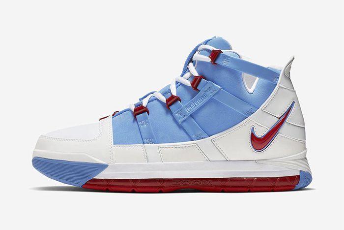 Nike Lebron 3 Houston Oilers 2019 Retro Ao2434 400 Release Date Lateral