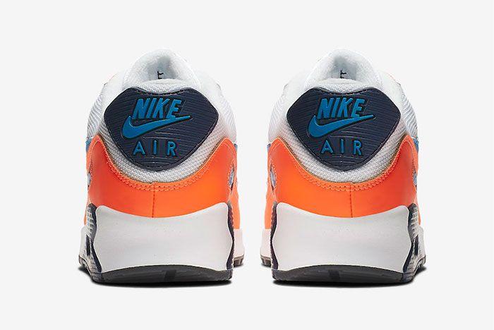 Nike Air Max 1 Total Orange Heel