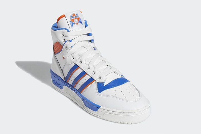 Adidas Rivalry Hi Knicks White Blue Orange F34139 1
