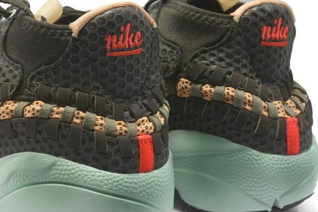 Nike Air Footscape Woven Brown Mint Heel Detail 1