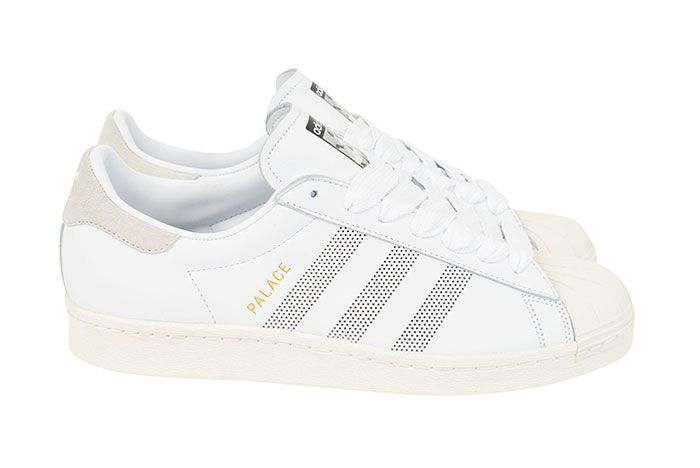Adidas Palace Superstar White Lateral Side