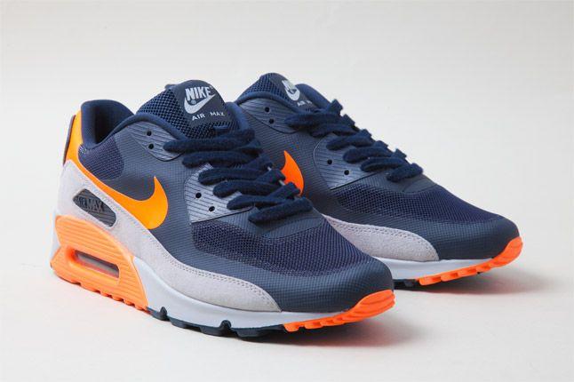 Nike Air Max 90 Hyperfuse Orange Blue Quarter 1
