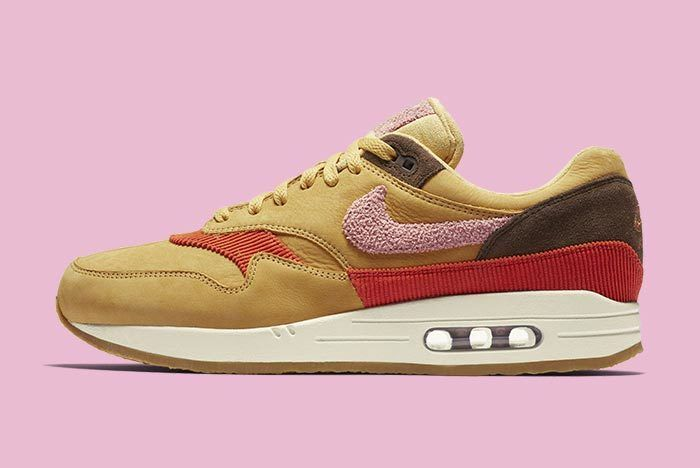 Nike Air Max 1 Corduroy Wheat Gold Rust Pink Baroque Brown 1