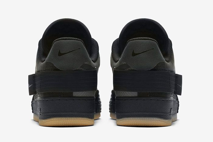 Nike Air Force 1 Black Gum Heel