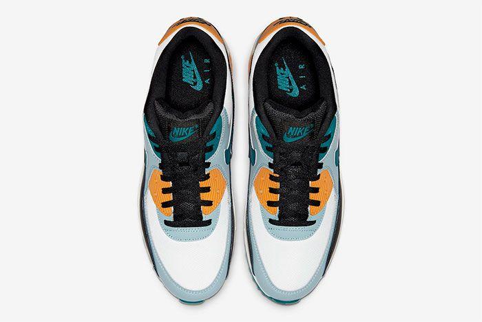 Nike Air Max 90 Teal Yellow Top
