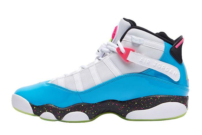 Jordan 6 Rings Light Blue Fury Left