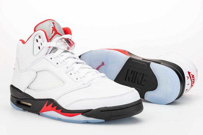 Air Jordan 5 Fire Red Left Side Angle