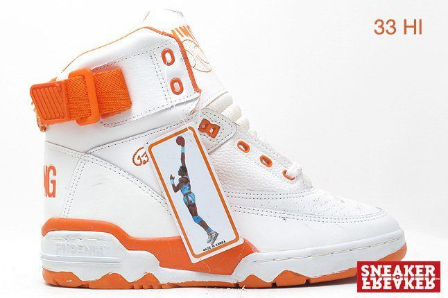 Ewing Sneakers 33 Hi White Orange 1